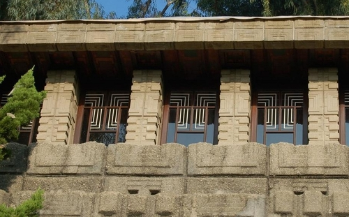 Storer House in Hollywood by Frank Lloyd Wright