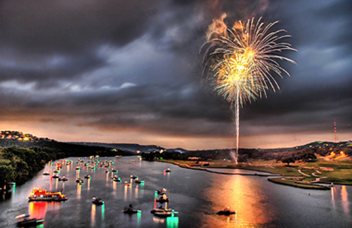 The 4th of July on Lake Austin by Trey Ratcliff