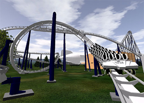 Led Zeppelin roller coaster in Myrtle Beach Florida at the Hard Rock Cafe theme park