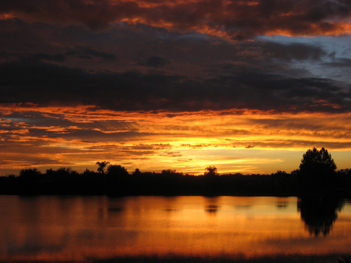 The sunrise that caused me to run outside in my boxers to capture in Tampa Florida