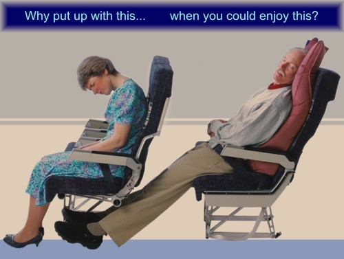 two people in airline seats