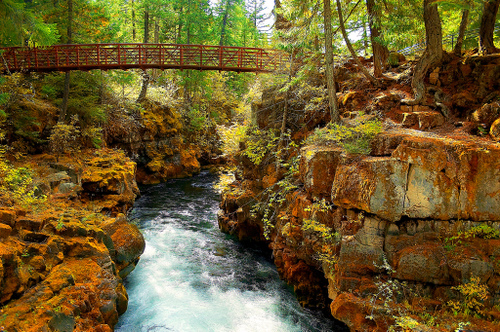 Rogue River Natural Bridge in Prospect, Oregon