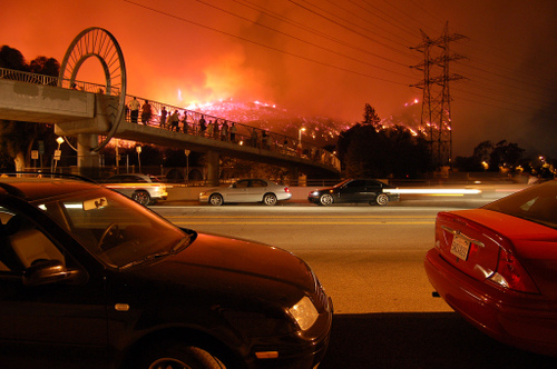Griffith Park fire in Los Angeles