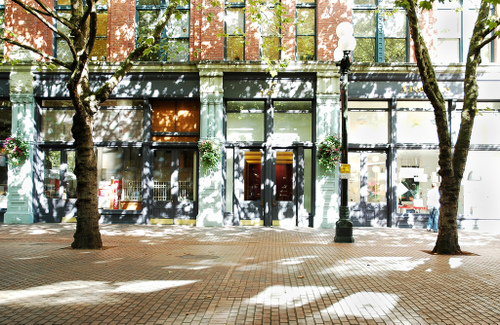 Occidental Park in Pioneer Square in Seattle
