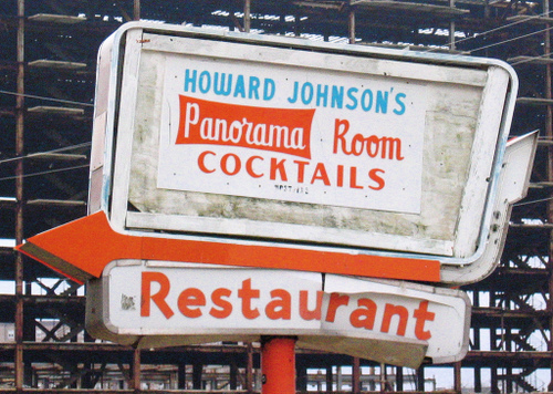 old sign for Howard Johnson's