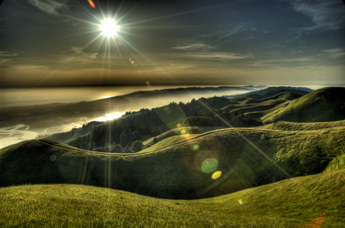 Setting sun from mt. tamalpais