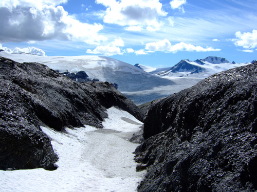Harding Icefield and Exit Glacier in Alaska
