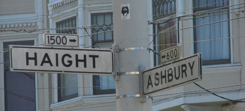 street signs for haight and ashbury
