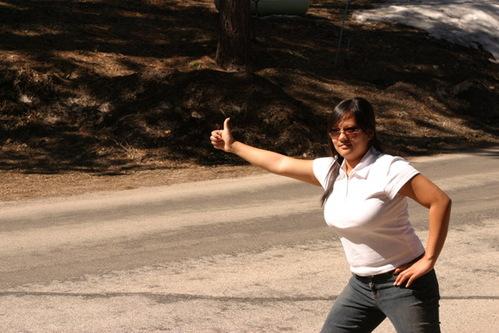 Belvien hitchhiking by drustar at flickr