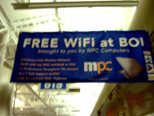 Free WiFi at Boise Airport by qthrul at flickr