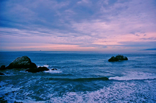 Sunset over the Pacific, near Cliff House by jluster at flickr